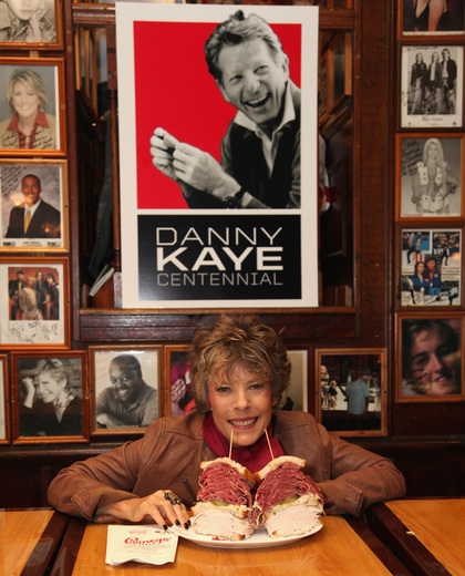 Dena Kaye with the Danny Kaye Sandwich