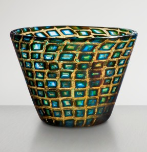 4. Truncated cone-shaped glass vase of murrine romane_Scarpa