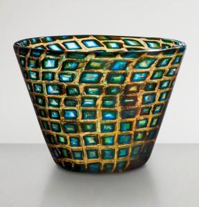 4. Truncated cone-shaped glass vase of murrine romane_Scarpa
