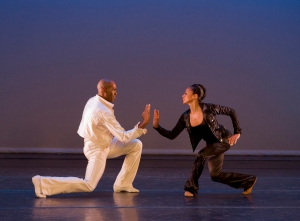 AAADT's Antonio Douthit-Boyd and Linda Celeste Sims in Alvin Ailey's Pas de Duke.  Photo by Paul Kolnik