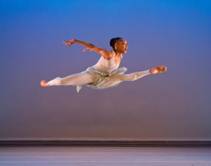 AAADT's Demetia Hopkins in Alvin Ailey's The River.  Photo by Paul Kolnik