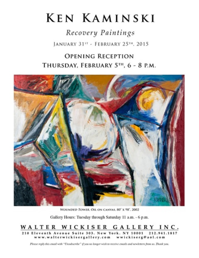 Recovery paintings flyer